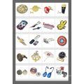 Heißer Verkauf Metall Namensschild Anstecknadel mit Epoxy Doming