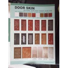 Pele de porta folheado de madeira