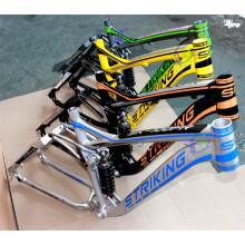 Suspensão suave downhill suspensão 6061 liga de alumínio quadro 26 polegadas quadro DH