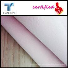 Peso pesado T/C lycra sarga mezclado Soild teñido de tela para dama pantalones/astilla delgada capa de la tela cruzada del Spandex