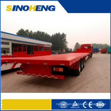 2015 3 Axle 60t Flatbed Semi Trailer with Steel Spring Suspension