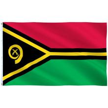 Пользовательский ручной флаг Национальный флаг Вануату для продвижения стола
