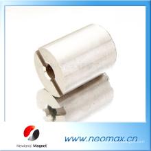 Kundenspezifische Zylinder AlNiCo Magneten mit einer Nut und ein Loch für heißen Verkauf