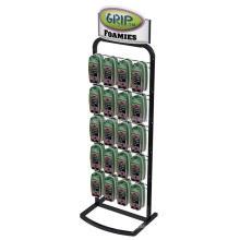 Kundenspezifische doppelte Seiten 5-Tier Metall Haken Handy-Gehäuse Handy-Zubehör Boden Display Rack