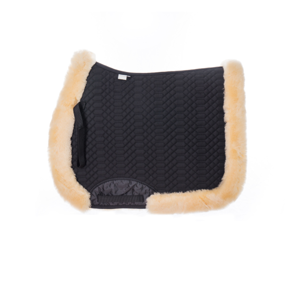 White Quilted Lambskin Saddle Pad