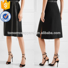 New Fashion Studded Satin Trimmed Crepe Summer Mini Daily Skirt DEM/DOM Manufacture Wholesale Fashion Women Apparel (TA5020S)
