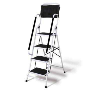 Solución nueva y perfecta Escalera de uso en el hogar de 4 pasos con barandillas de dos lados