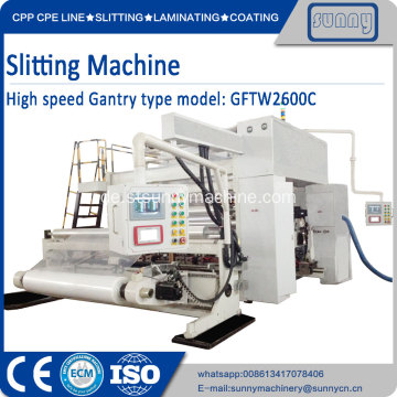 Surface Wicklung Slitter Machine SUNNY MACHINERY