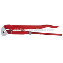 Dipped handle S type bent nose Pipe wrench