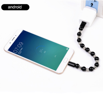 Android iphone beaded charger bracelet
