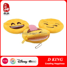 Design popular Kids Toy Emoji Coin Purse Plush Bag