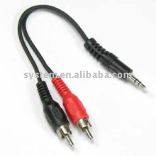 3.5mm stereo male to 2 RCA male cable