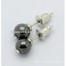 Hematite Gemstone Earring Stud