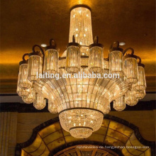 2017 New modern crystal pendant light big crystal chandelier for hotels