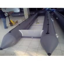 Barco de resgate de PVC inflável resistente, trabalhando o barco CE