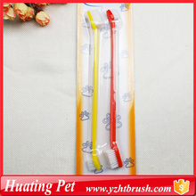 OEM manufacturer custom for Pet Brushes double use pet toothbrush supply to Cook Islands Supplier