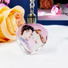 Porte-clés en cristal personnalisé avec impression de photos