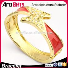 2016 nuevos brazaletes hechos a mano de la joyería del oro del diseño