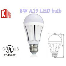 60mm 8w 750lm dimmable Samsung chip smd A19 led bulb