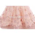 2017 rosa Farbe Blumenmädchen Kleid für Hochzeit handgemachte geschwollene Prinzessin Baby Mädchen Sommerkleid