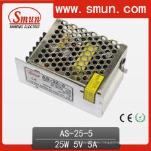 Fuente de alimentación de conmutación de tamaño pequeño de 25W Sencilla salida 5V / 12V / 15V / 24V
