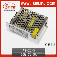 25W Small Size Switching Power Supply Single out 5V/12V/15V/24V