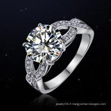Vente en gros bling bling nouvelle tendance bijoux éternité spirale anneau de diamant