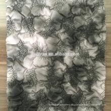 impressão térmica impermeável bordado acolchoado de tecido para o casaco de inverno feminino