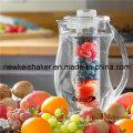 Jarra al por mayor del agua del infuser de la fruta con la barra del núcleo del hielo