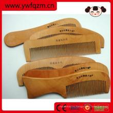 Оптовая дешевые небольшой Персонализированные волос дерева лазерная расческа волос уход