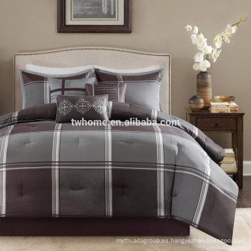 Madison Park Westdale edredón funda de edredón Jacquard conjunto de ropa de cama gris