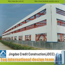 Bâtiment en acier à toit plat à faible coût