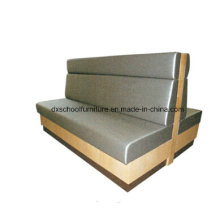 Commercial Style Grey PU Leather Two-Seater Sofa Booths