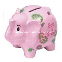 Elephant Coin Box, Pink Elephant Money Bank