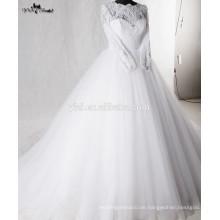 RSW938 Lace Puffy Prinzessin Ballkleid Arab Muslim Brautkleid Brautkleider