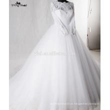 RSW938 Lace Puffy Princess Vestido de Baile Arab Muslim Vestido de Noiva Vestidos de casamento