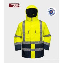 Arbeitskleidung hallo vis 3m reflektierende Sicherheitswinterjacke persönliche Schutzausrüstung