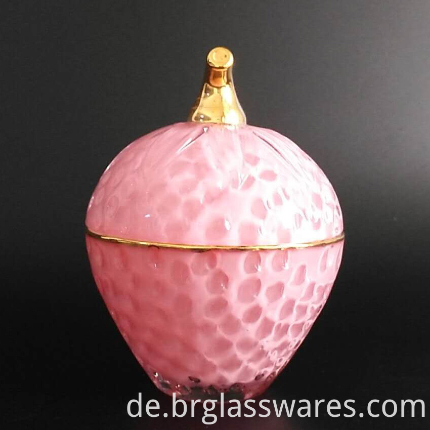 Strawberry Glass Candle Jar Cheap Price 5