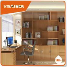Design de biblioteca de madeira de bom serviço