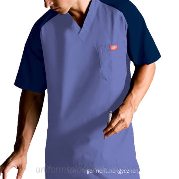 Men′s Royal Raglan Contrast 5 Pocket Nursing Uniforms (xy234)