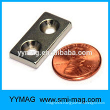 N52 Neodymium magnet with screw hole coated NICUNI