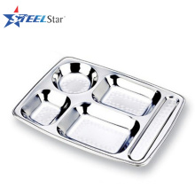 Designer Stainless Steel Food Serving Trays with compartments