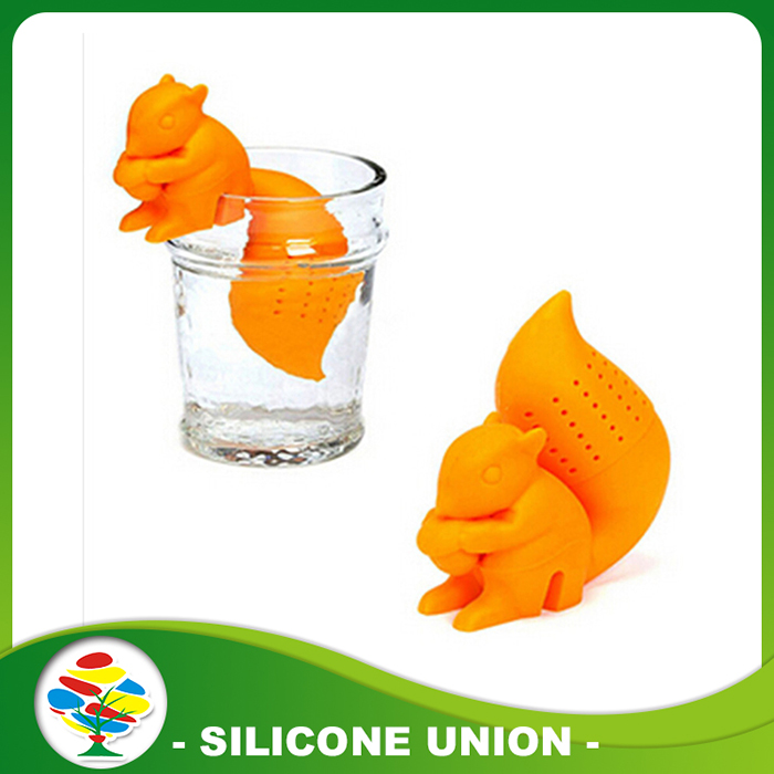 Orange Squirrel-Tea-Strainer