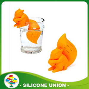 Desain busana silikon squirrel tea infuser