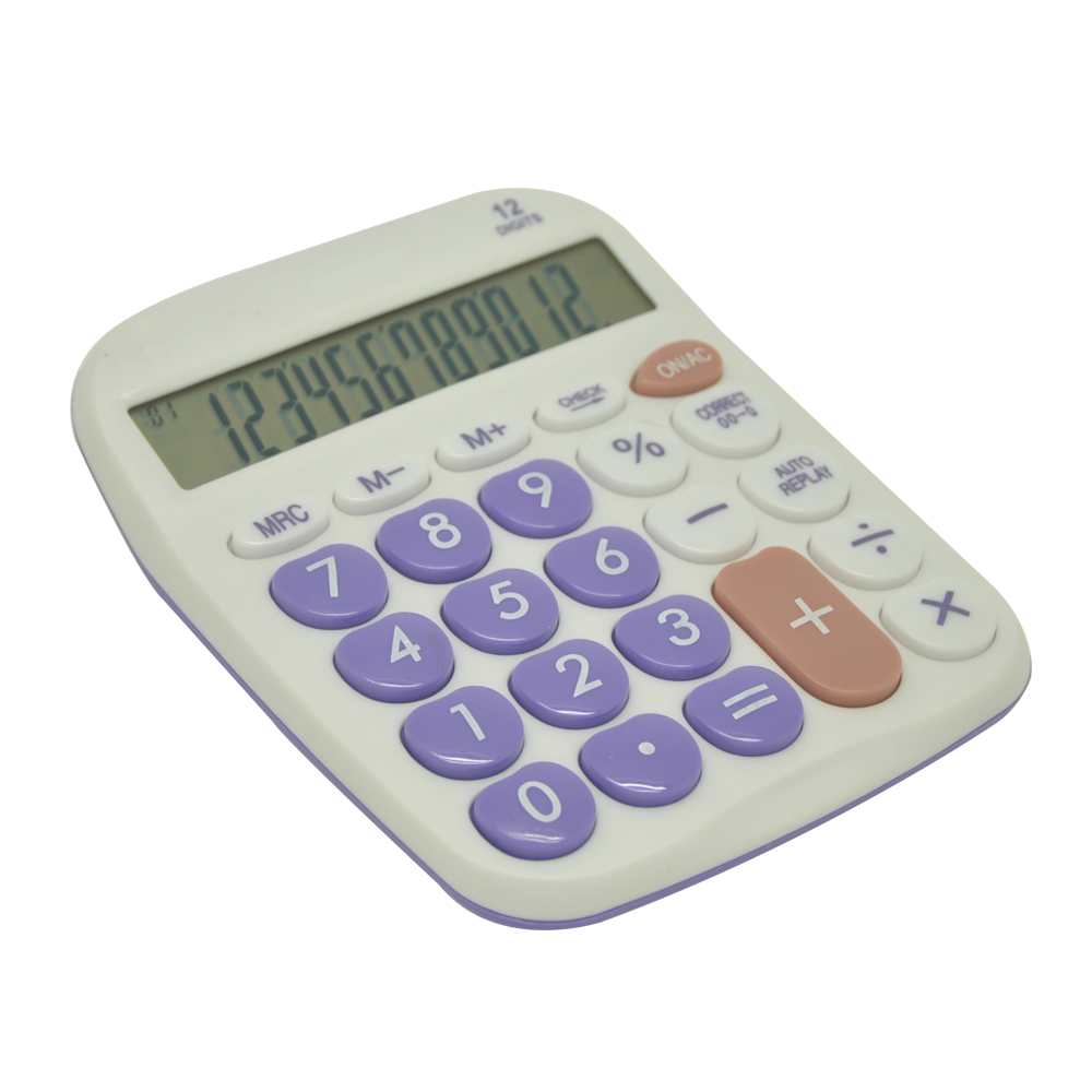 Office Electronic Calculator with Colored Keyboard