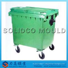 Belle qualité et conception injection poubelle en plastique poubelle