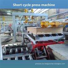Ambos lados adhesivo muebles laminación prensa máquina melamina