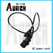 UL estándar Inicio pin de alimentación hueco enchufe cable Cable para 125v