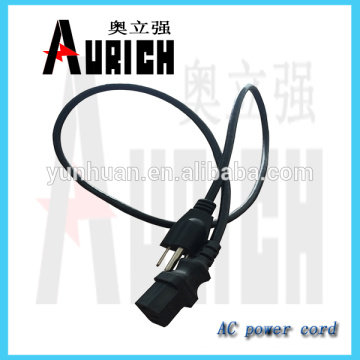 Broche d'alimentation creux UL Standard Accueil câble cordon pour 125 v