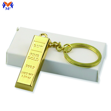 Metal Fake Gold Bar Ingot Bullion Keychain